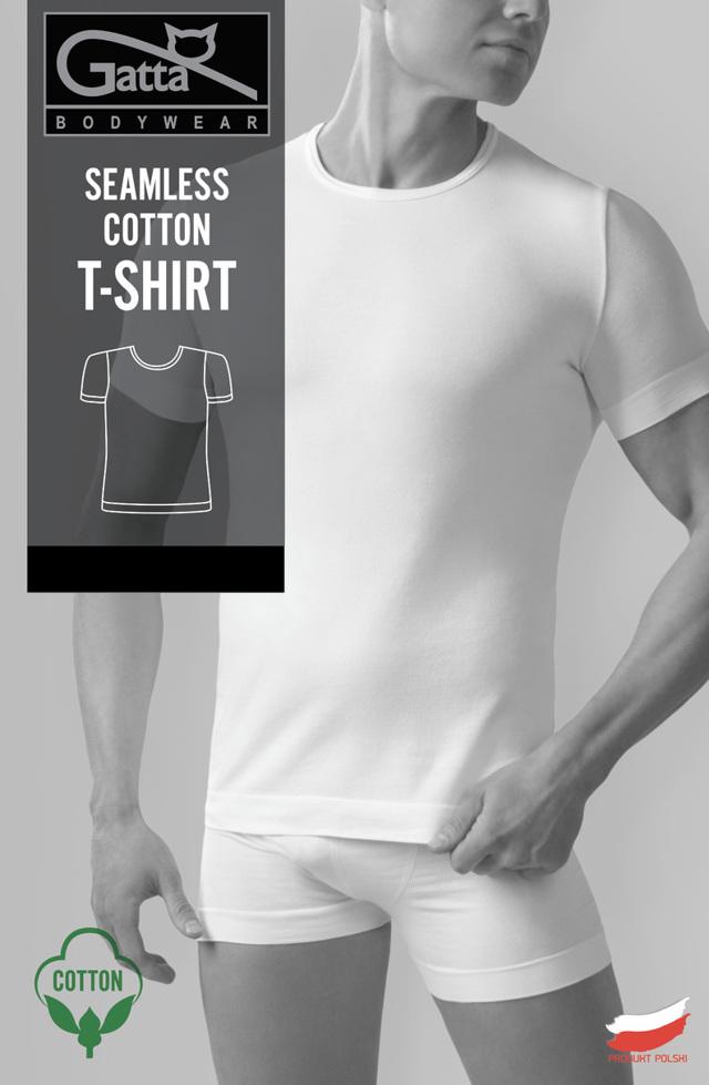 Pánské tričko - SEAMLESS COTTON T-SHIRT - GATTA BODYWEAR