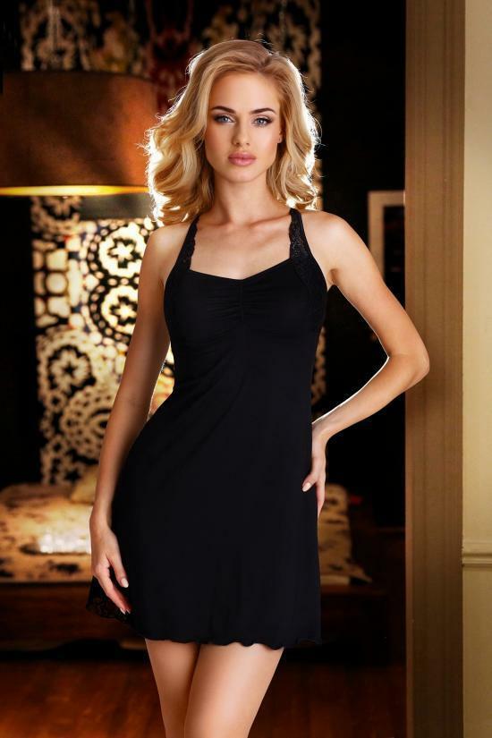 Dámská noční košilka Eldar First Lady Ana - S - černá