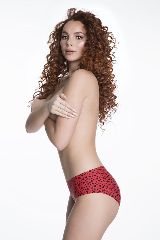 Dámské kalhotky Simple Panty Amore - Julimex - XL - červeno-černá