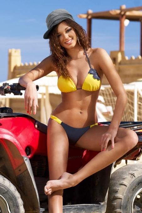 Dámské dvoudílné plavky Arista - Donna - M - žlutá