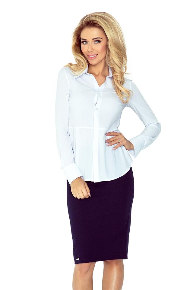 Bílá dámská košile MM 016-4