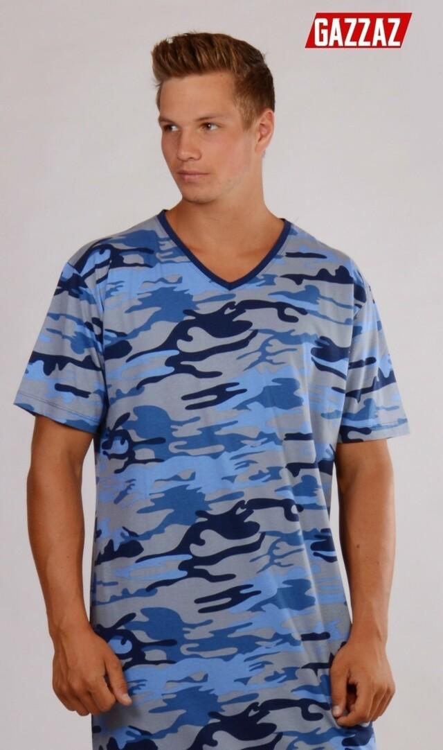 Pánská noční košile s krátkým rukávem Army(276868) - 2 328d302387