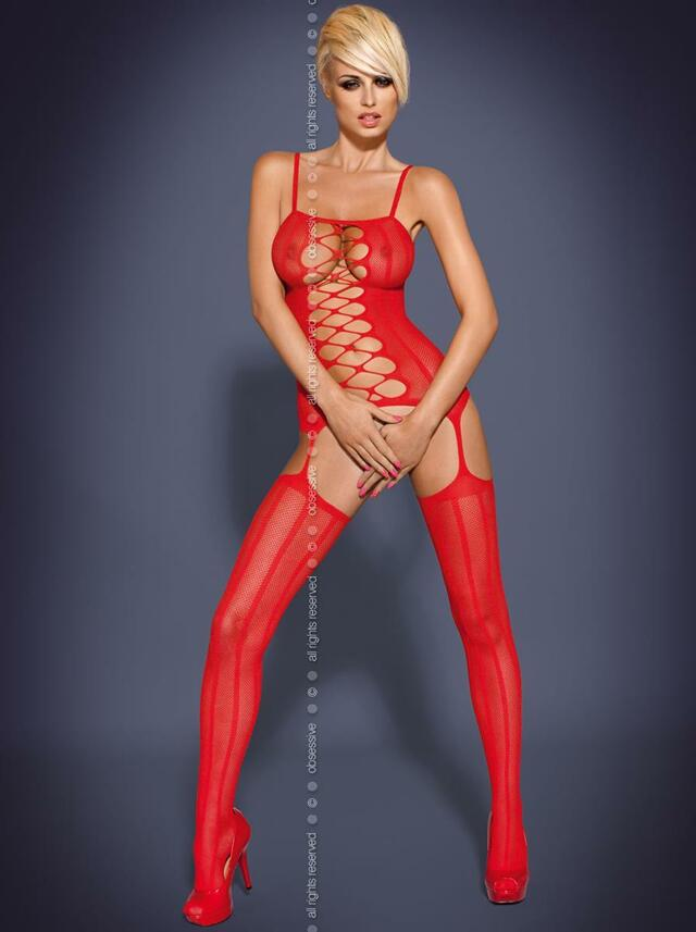 Body Bodystocking G300 - Obsessive - S/M - bílá