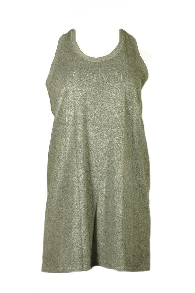 69cc891974 Plážové šaty KW0KW00376-020 šedá - Calvin Klein