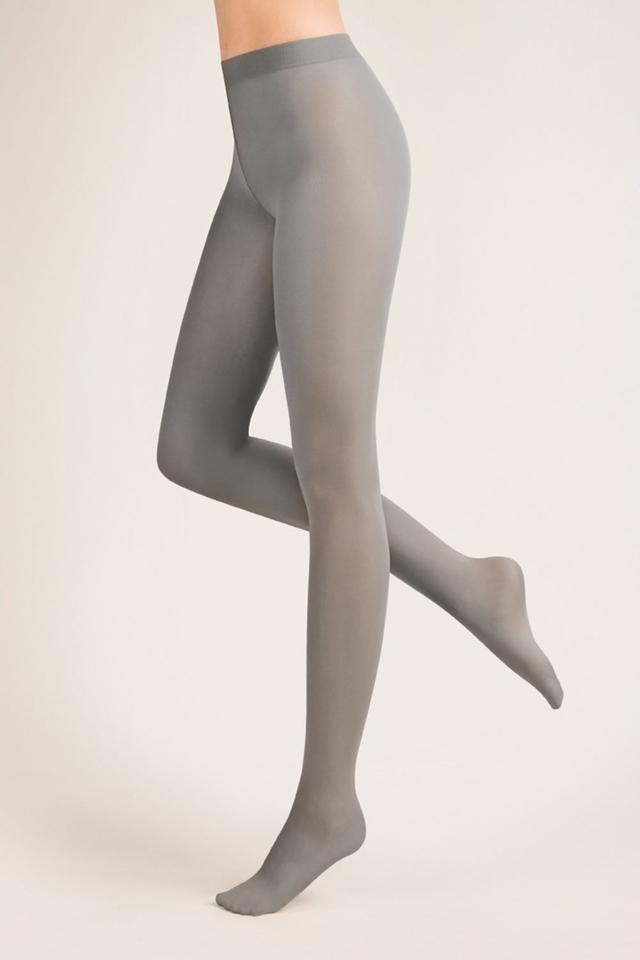 Punčocháče zimní Microfibra grey - 2 - šedá