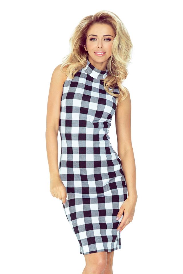 Dámské šaty 002-3 - M - černo-bílá 658ef9a8f5