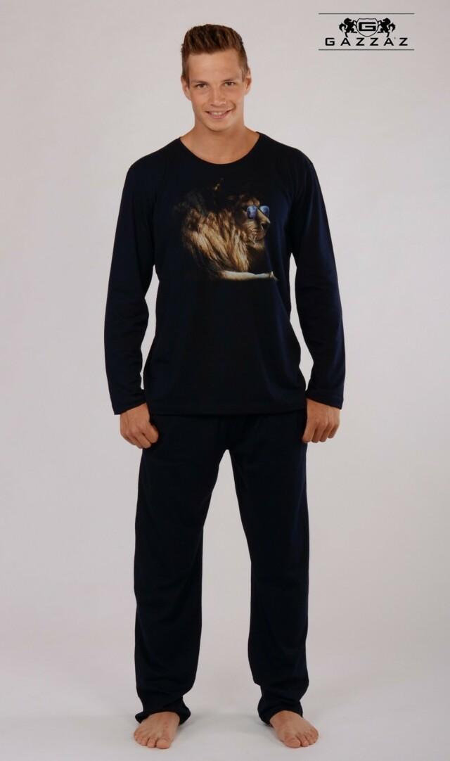 Pánské pyžamo dlouhé Lev s brýlemi