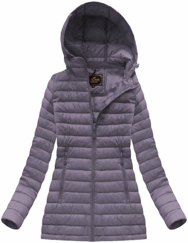 Fialová dámská prošívaná bunda (7236BIG) - 48 - fialová