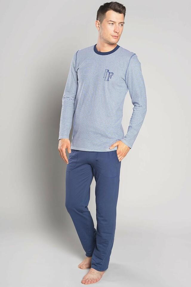 Pánské pyžamo Italian Fashion Kristo - XL - jeans/tmavomodrá