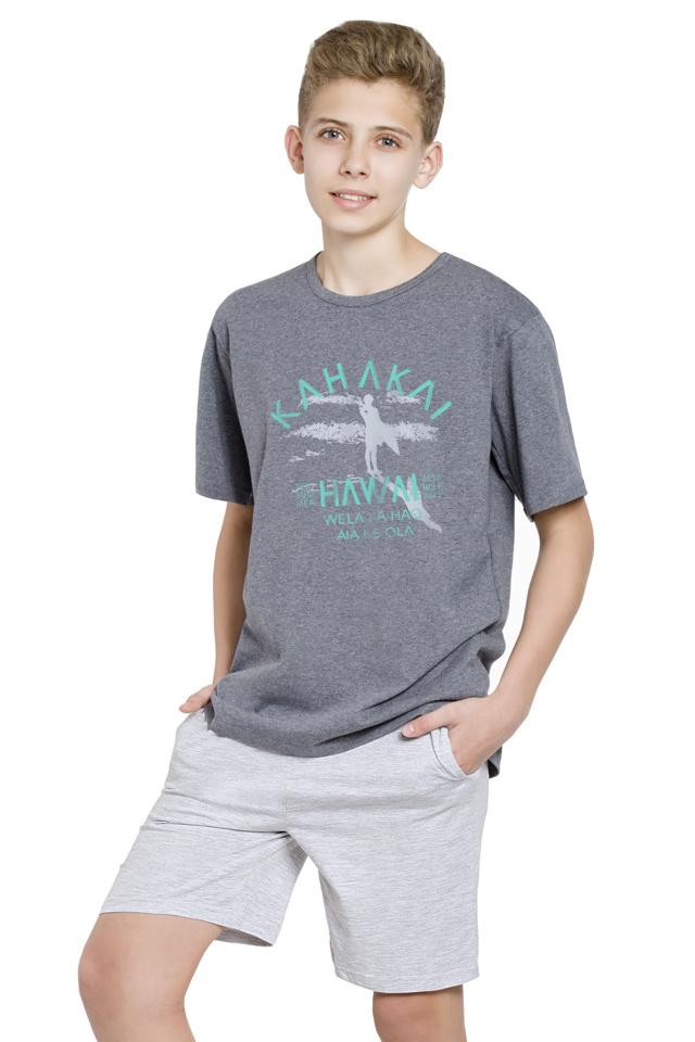 Chlapecké pyžamo Kája tmavě šedé