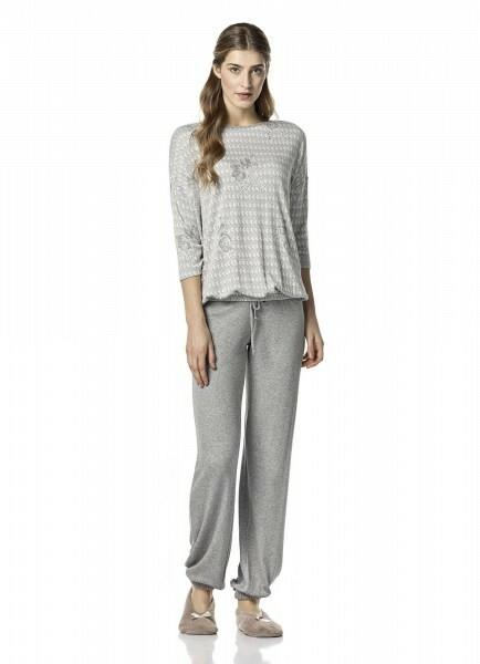 Dámské pyžamo 10-4842 - Vamp - S - šedá