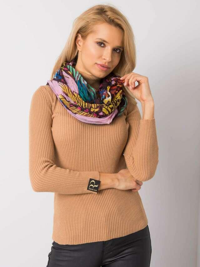 Vzorovaný dámský světle růžový šátek - jedna velikost