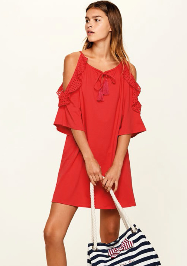 2c8be561e60a Dámské letní šaty Noidinotte LA1764 - L - Červená
