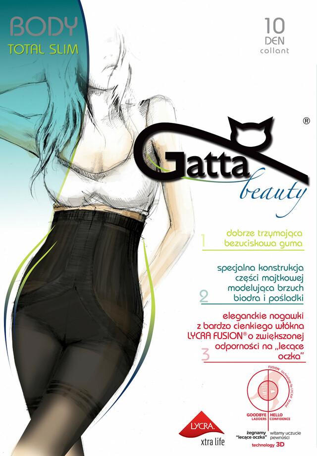 Punčochové kalhoty Gatta Body Totalslim Fusion 10 den - 3-M - zlatá/odstín béžové