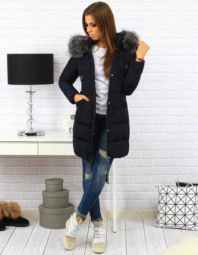 Dámská zimní bunda s kapucí BH-1765 (ty0180) - Forever - M - růžová