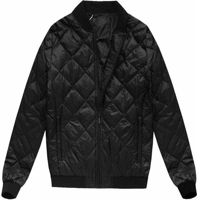 Černá pánská bunda s přírodní vycpávkou (5022) - M - černá