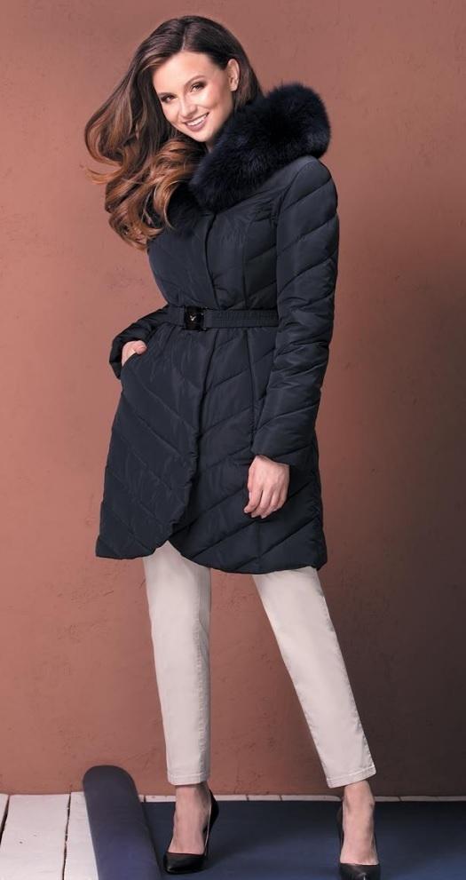 Dámský kabát Weronika - Getex - 44 - tmavě modrá e2ce73007a4