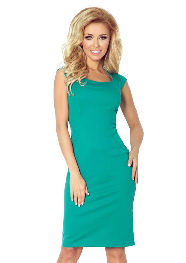 Zelené vypasované šaty 53-13