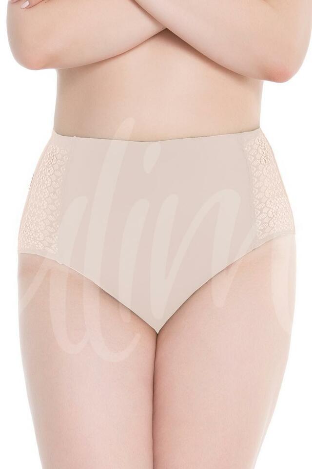 Klasické kalhotky Julimex Lingerie Opal panty - XL - béžová
