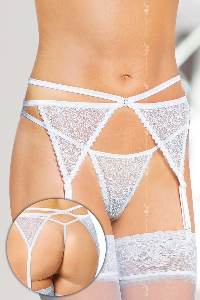 Erotický podvazkový pás 3318 white