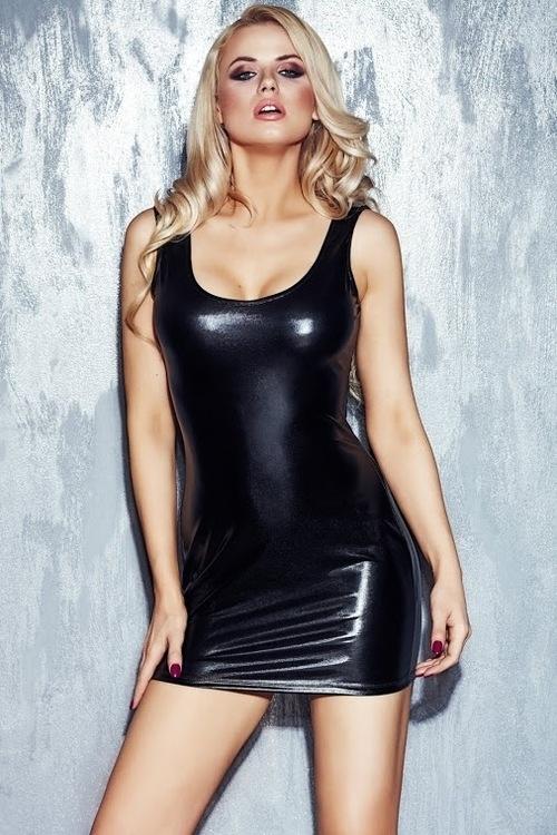 Erotické šaty Neona - L - černá