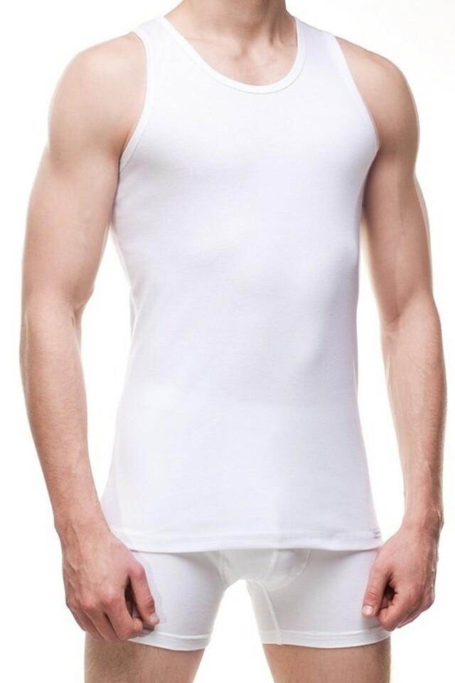 Pánský nátělník 213 plus white - 4XL - bílá