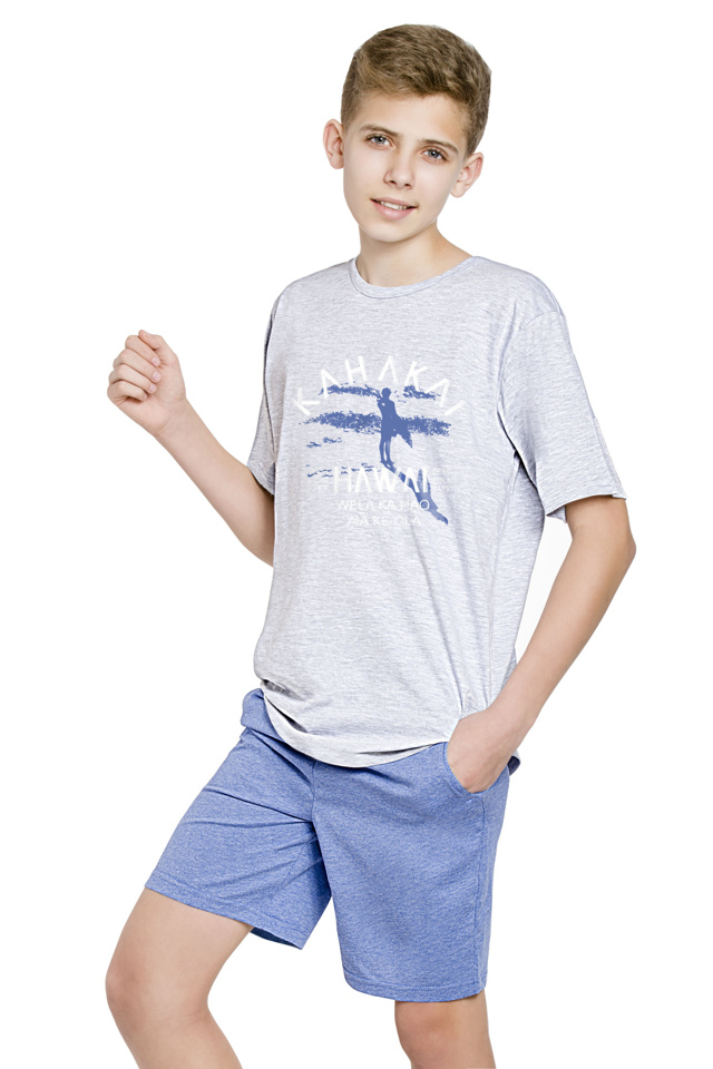 Chlapecké pyžamo Kája světlé šedé