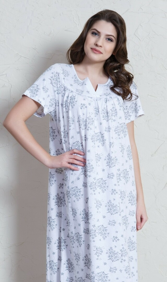 Dámská noční košile s krátkým rukávem Margita