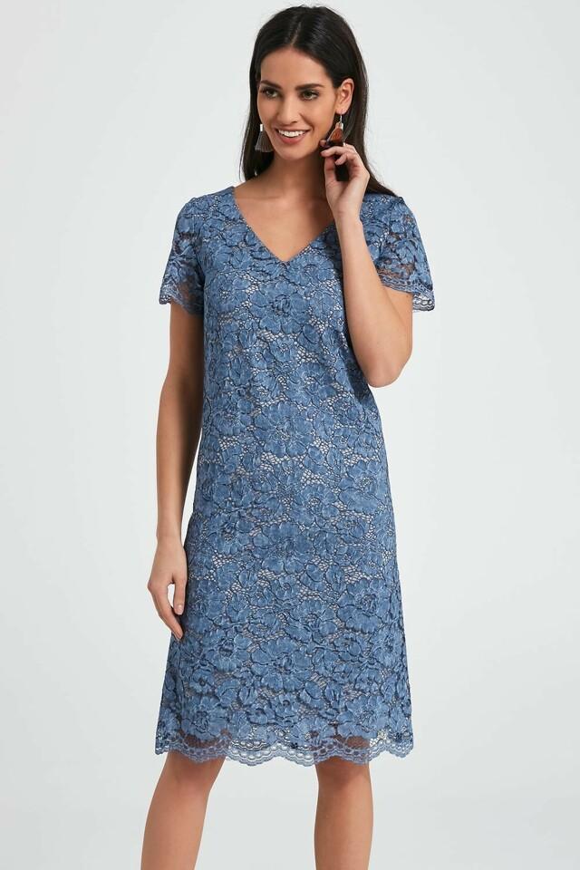 bdde934c5009 Dámské šaty Ennywear 250049 - 40 - modrá