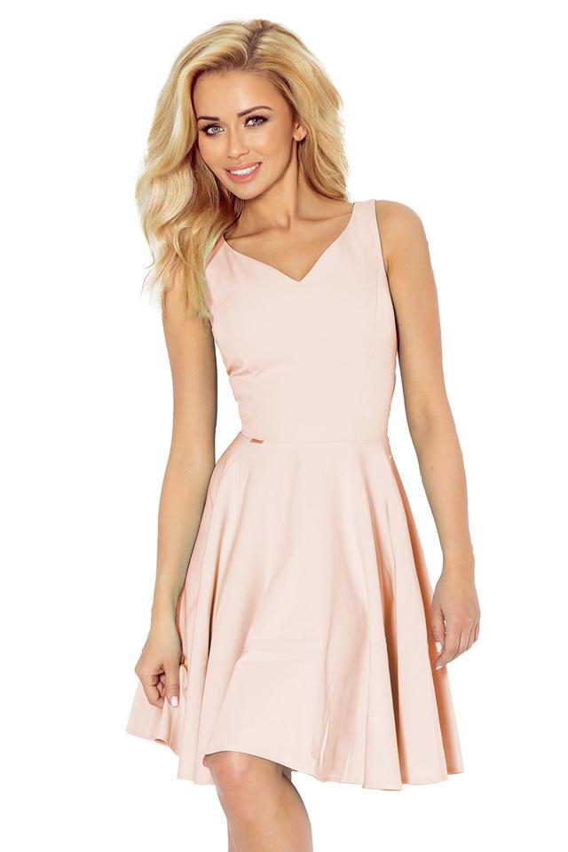 Světlounce růžové šaty s výstřihem ve tvaru srdce 114-8 - L 0f648efc11