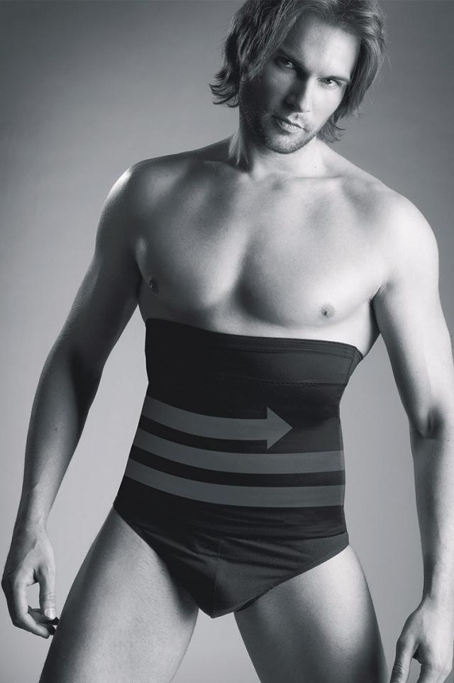 Pánský zeštíhlující pás Body Perfect - Mitex - M - černá
