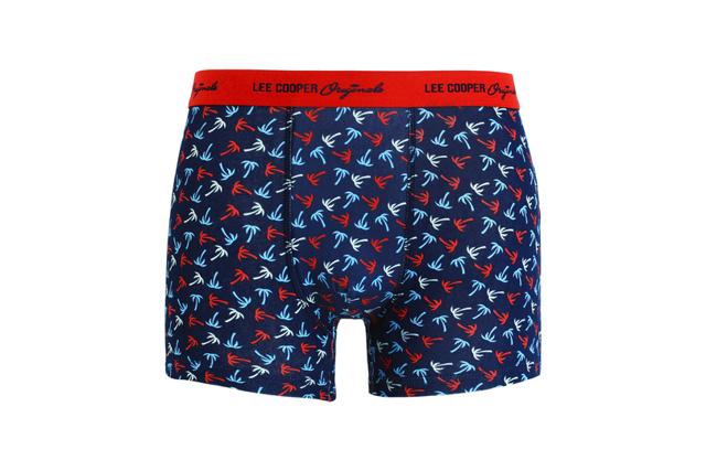 Pánské vzorované boxerky LEE COOPER - tmavě modrá - XL