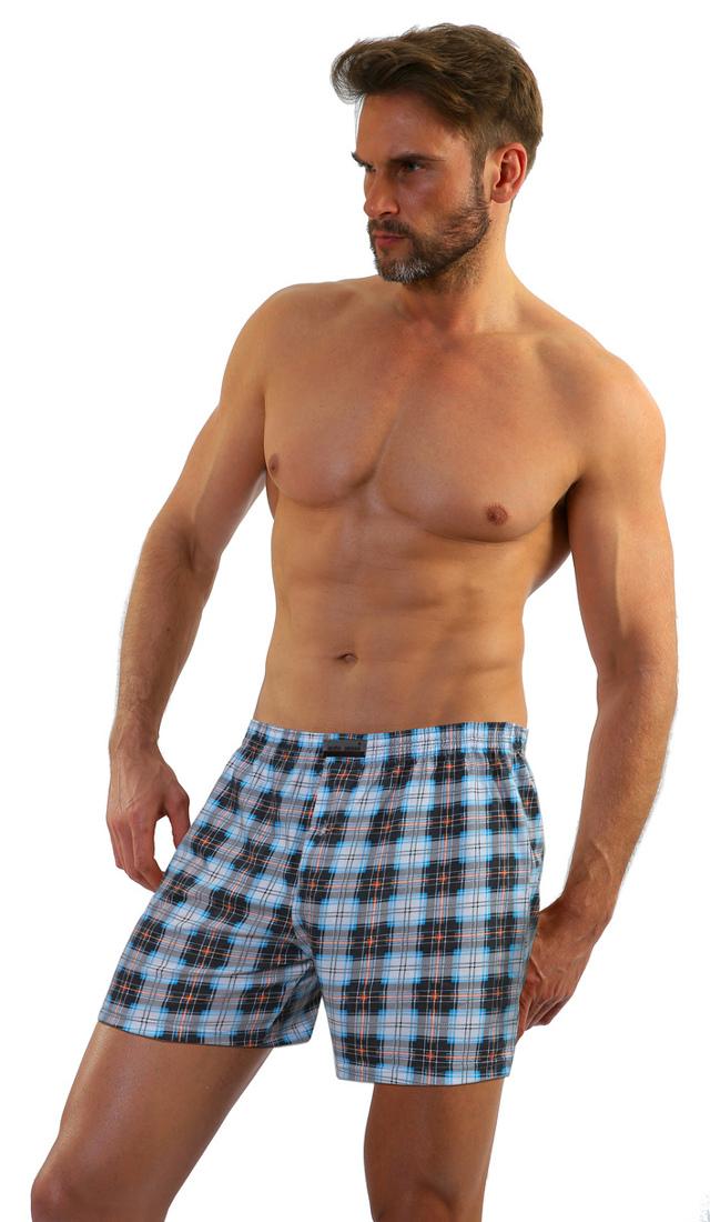 Pánské boxerky PANTHER - SESTO SENSO - kotvy-jeans - XL