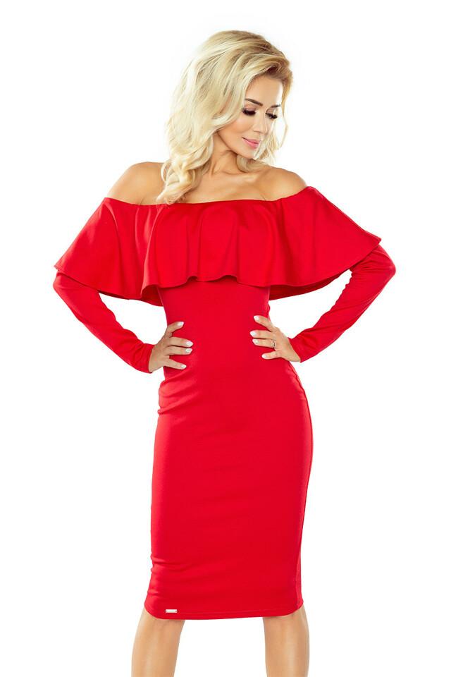Dámské šaty 156-2 red - M - červená