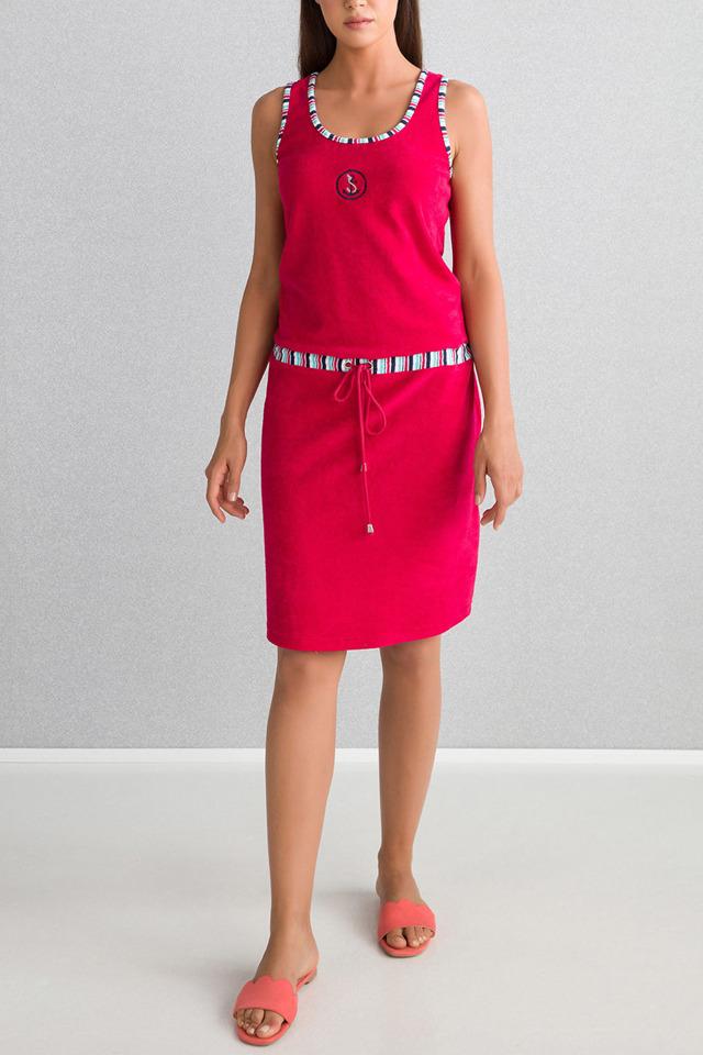 Plážové šaty 6105 - Vamp - S - malinová