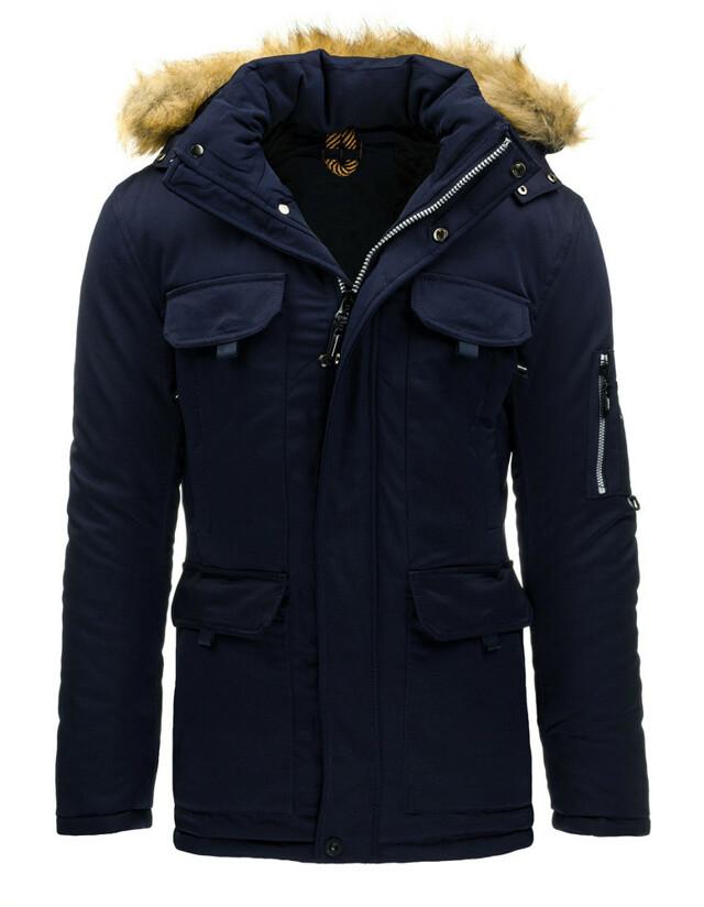 Pánský zimní kabát L-8259 - Sea City - 2XL - granátová