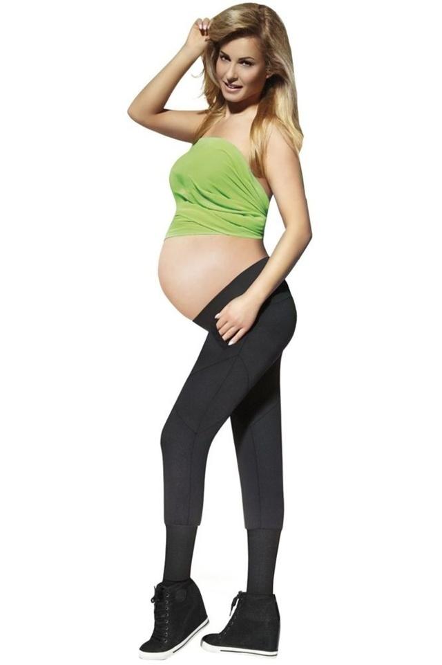Těhotenské legíny Veronica 200 DEN černé - XXL
