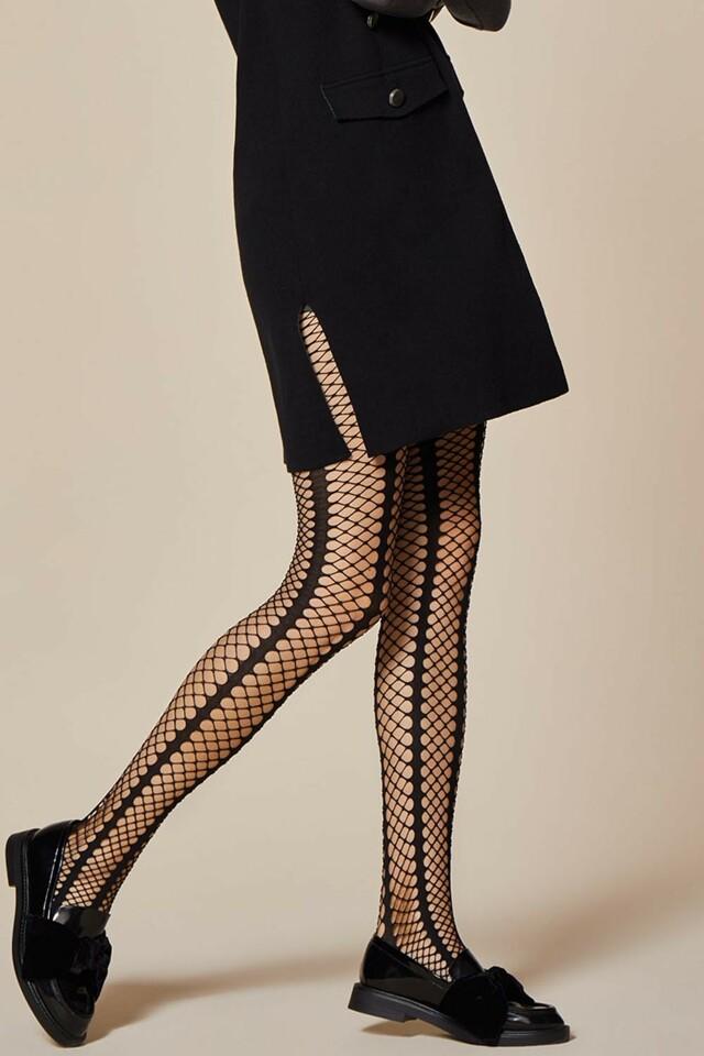 Punčochové kalhoty Fiore Lady Rock - 2-S - black