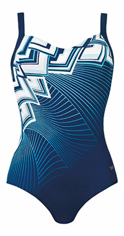 Dámské jednodílné plavky 73013 - Naturana - 48E - modrá
