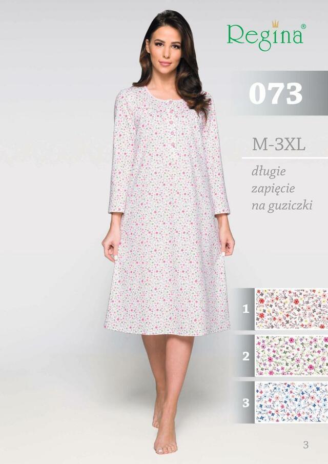Dámská noční košile 073 - růžová - XL