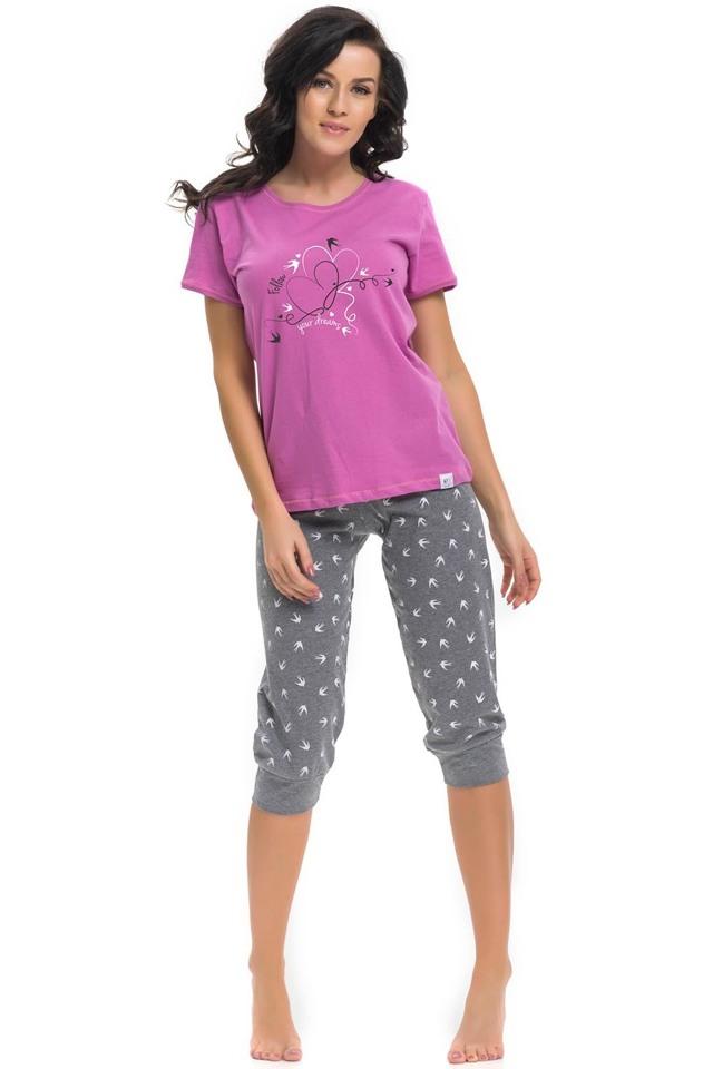 Dámské pyžamo Dn-nightwear PM.9215 - M - fuchsiová