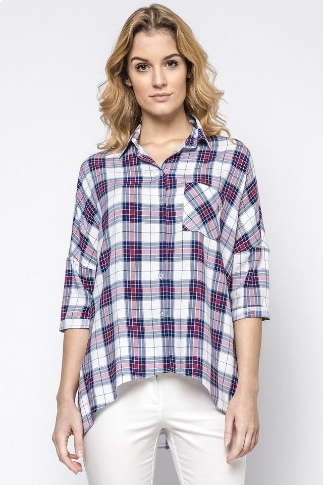 Dámská košile Ennywear 230139 - 36/38 - bílo-fialová
