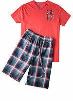 Pánské pyžamo 552020 - Jockey - L - červená-modrá