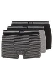Pánské boxerky 17302913 3pack - Jockey - M - šedá, tm.modrá, proužek