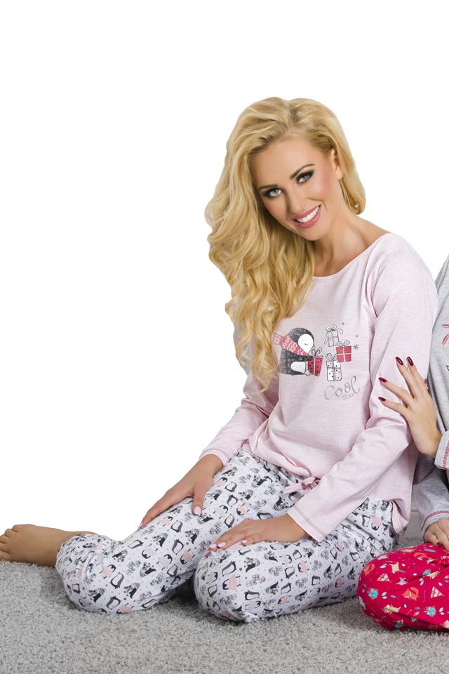 Dámské pyžamo Oda růžové - XL