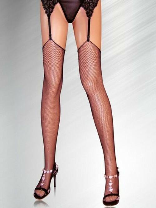 Erotické síťované punčochy SLH-2115 - Alexis - uni - černá