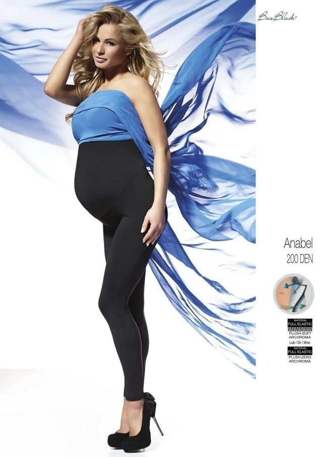 Legíny Bas Bleu Anabel těhotenské 200 den - 4-L - černá