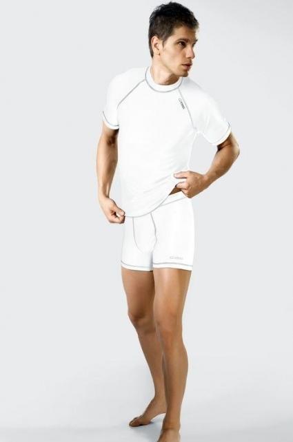 Sportovní pánské šortky Classic VI Silver - Gwinner - XXL - bílá