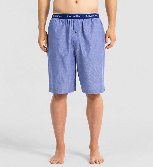 Pánské kraťasy Shorts U1720E - Calvin Klein - M - modrá/pruh
