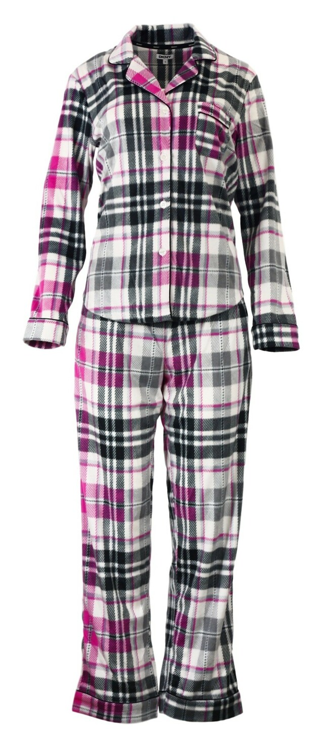 Dámské pyžamo YI2713489 - DKNY - XS - růžovo-šedé káro